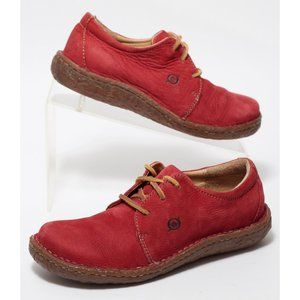 Women's Born Shoes Size 6 M Red Suede Leather